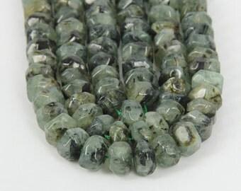 15.5 inches of strand Polished Prehnite Chunky Bead,Freeform Cut Nugget Gemstone Pendants Necklace,Handmade Jewelry