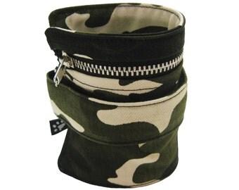 """Wrist wallet """"Camouflage"""", bracelet, wrist cuff purse, safety wallet, wrist pouch, ankle wallet."""