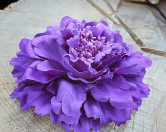 Peony Flower Hair Clip ~1 pieces #100731