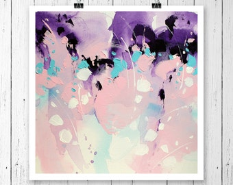 Abstract painting Pink painting Contemporary wall art Modern Art Work Art PRINT Landscape painting Paintings Abstract art Giclee PRINT