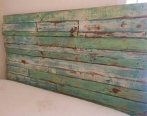 Reclaimed Wood Headboard Pallet Wood Primitive Pallet Wood Headboard Shabby Chic Rustic