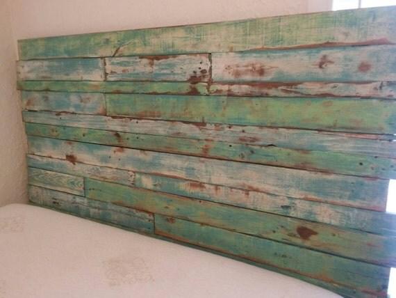 Reclaimed Wood Headboard Pallet Wood by ReclaimedPalletTrend