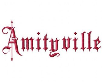 Amityville Machine Embroidery Design Single