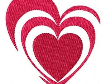 Broken Hearts Machine Embroidery Design Single