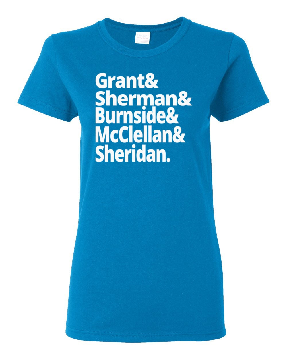 US Civil War - Union Generals - Grant, Sherman, Burnside, McClellan, Sheridan - Women's US Civil War History T-shirt
