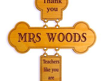 Custom Teacher Appreciation Gift,Wall Decorative Cross, Student to Teacher Appreciation Gift,Home Decor for Teachers,Thank you Teacher