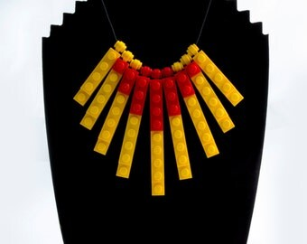 LEGO Necklace - Yellow and Red