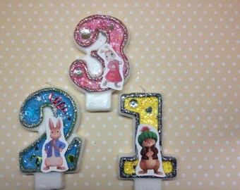 Peter Rabbit and Friends Birthday Party Number Candle