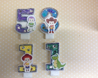 Toy Story, Woody, Jessie, Buzz Lighyear Birthday Party Number Candle