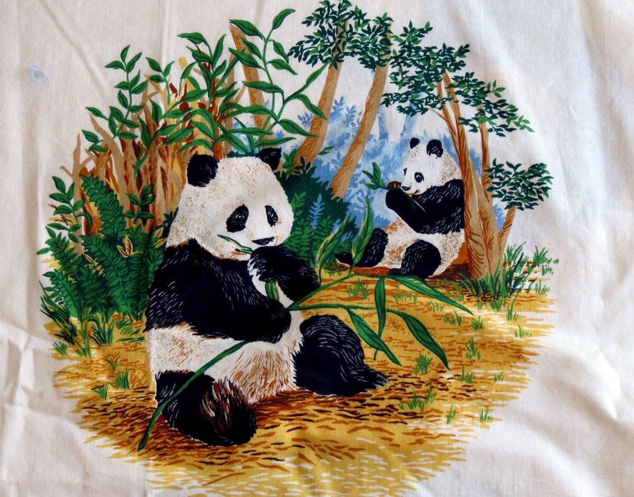 Endangered Animals Fabric Panel No Sew Applique By Lovesbanner