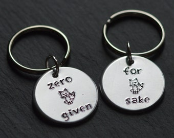 For Fox Sake, Zero Fox Given, Oh For Fox Sake, Funny Keychain, Fox Sake, Fuck Sake, Funny Gift, Sweary, Fox Keyring, For Fox Sake Mug