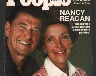 Vintage Magazine - People Weekly : February 1976 Ronald Reagan Nancy Reagan EX+ White Pages High Grade Unread No Label