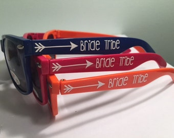Personalized Bachelorette Sunglasses: Bride Tribe