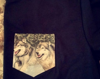 Wolves pocket t-shirt
