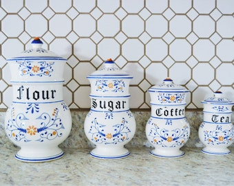 """Vintage """"Heritage"""" by Royal Sealy Canister Set 
