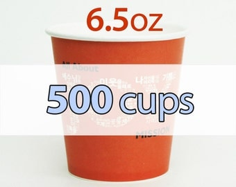 500 / 1000 Custom offset printed PAPER CUP : 6.5oz
