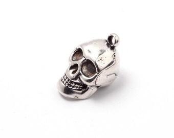 25pcs Skull Charm - Sterling Silver Charm - Silver Charm - Zamak Charm