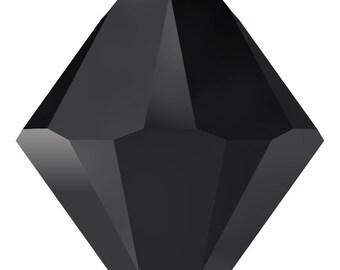 Swarovski Crystal Bicone Pendants 6301/6328 - 6mm 8mm - Jet