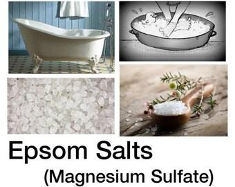 Epsom Salt, Magnesium Sulfate, Epsom Salt Uses - 2lb Bag - 100% Pure Epsom Salt