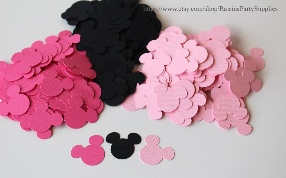 Baby shower minnie mouse decorations minnie paper confetti for Baby minnie decoration ideas