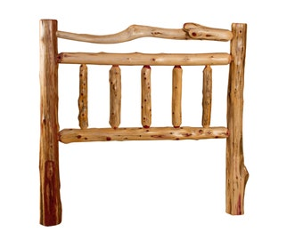 Rustic Red Cedar Log Bed- QUEEN Size - Mission Style -*HEADBOARD ONLY* Amish Made