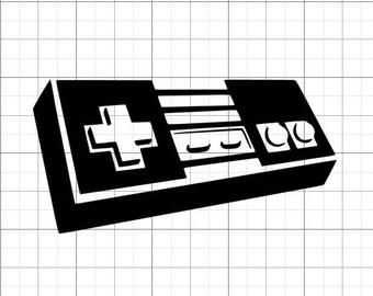 Nintendo (NES) controller permanent vinyl decal