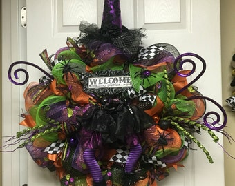 Halloween Wreath, Witch Wreath, The Witch Is In, The Witch Is In Wreath, Spooky Wreath
