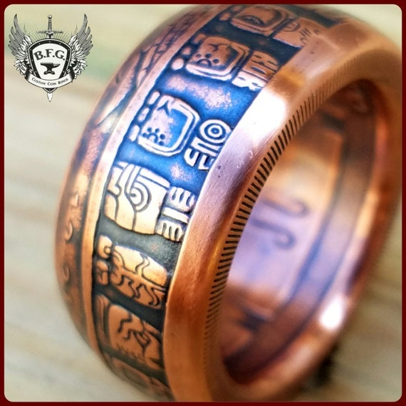 Mayan wedding rings