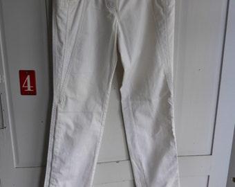 Vintage Dolce & Gabbana white cotton jeans size 40 UK 12