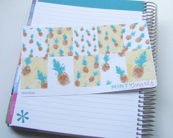 FBED0065 // Watercolor Pineapple Full Box Planner Stickers