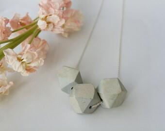 Geometric Wooden Pendant Necklace
