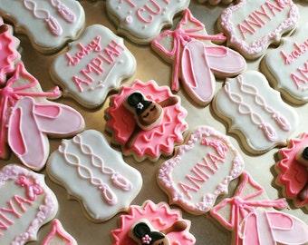 Ballerina Princess Baby Shower Cookies