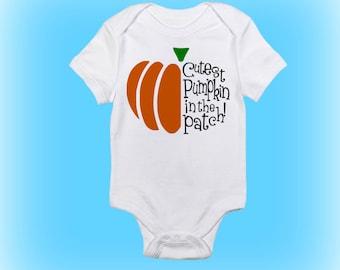 Pumpkin Onesie - Clothing for Halloween - Halloween Onesie - Cutest Pumpkin in the Patch - Baby Boy - Baby Girl - Baby Clothing -Baby Onesie