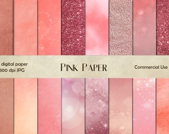 Pink paper digital Paper Texture, instant download, pink background scrap, scrapbook digital paper, digital paper CU, pink texture