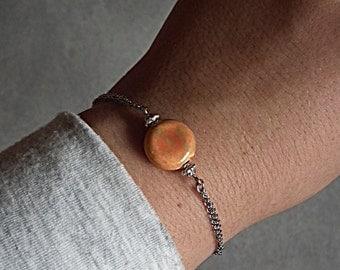 Stone bracelet orange