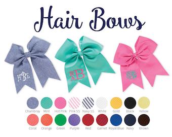 Personalized Hair Bows, Monogrammed hair bows, Girls Hair Bows- Hair Accessories