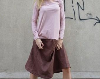 New Women's Maxi Dress, Oversize Tunic Top, Long Sleeves Dress, Extravagant Mini Dress, Loose Casual Dress by SSDfashion