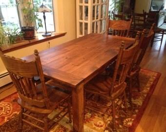Custom Early American Farm Table Up To 9' Length!!!