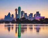 Fine Art Photo Print of The Dallas Skyline   Fine Art   Landscape Photography   Cityscape Photo   Skyline Photo   Home Decor   Wall Decor
