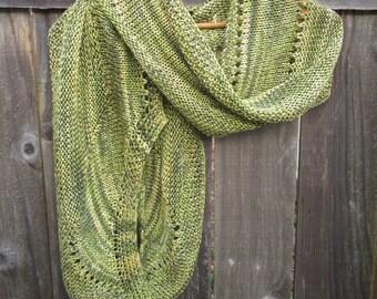 Silk Shawl   Knit Wrap   Handmade Shawl   Green Shawl   Gifts for Women   Green Wrap   Silk Wrap   Women's Accessories