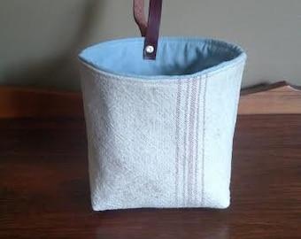 Mini Tote, Vintage Grain Bag, Rarh Malting Co Bag