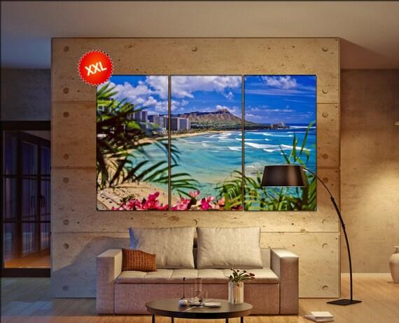 waikiki beach  canvas skyline waikiki beach wall decoration waikiki beach canvas art waikiki beach  wall decor canvas