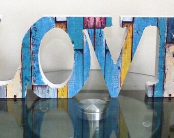 Love Letter design in Carved Letter Effect