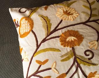 Handmade cushion | Embroidered Cushion | kashmiri Cushion | kashida Cushion |