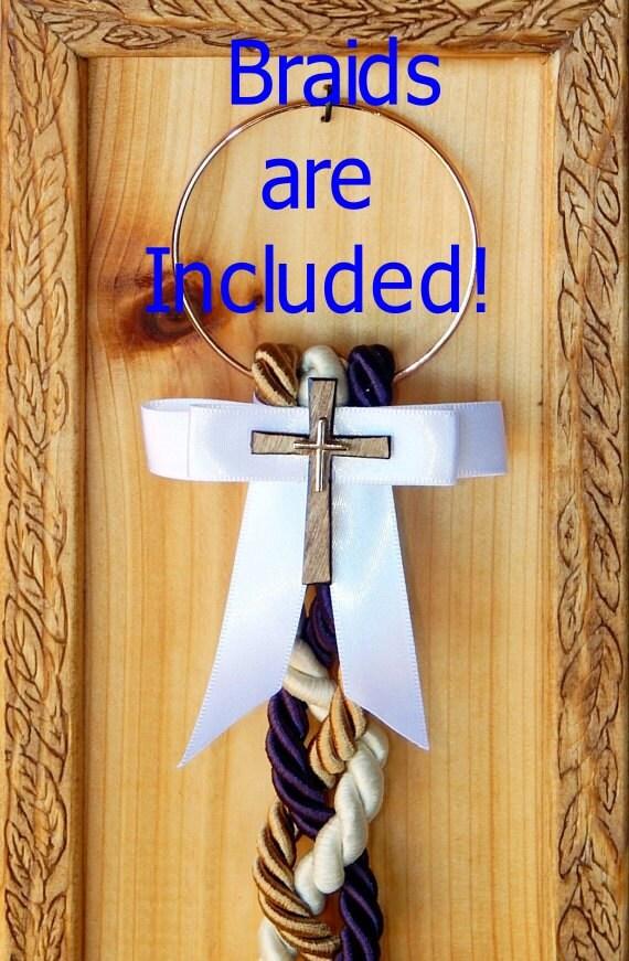 Cord of three strands wedding plaque rustic wedding board marriage