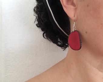 Tagua Earrings, Eco friendly earrings, Dangle & Drop Earrings, Tagua nut Earrings, Tagua Jewelry