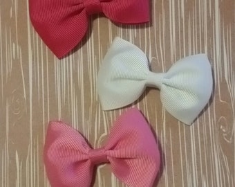 Girls hair clips.Baby girl hair clips. 3 pack flower hair clips