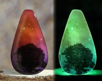 Trees Dreaming - Beautiful glow-in-the-dark Astronomy Pendant from the Carina Nebula - B16