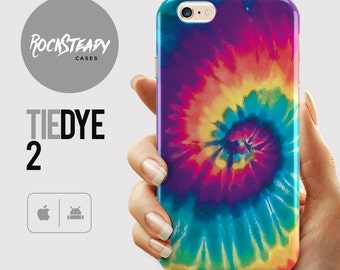 Tie Dye Phone case, iPhone 7, 6s Plus, 6, SE, 5S, 5C, Samsung Galaxy S7, S6, S5, S4 colorful abstract unique rainbow cell phone case
