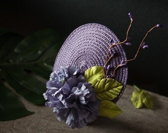 Springlike Fascinator purple